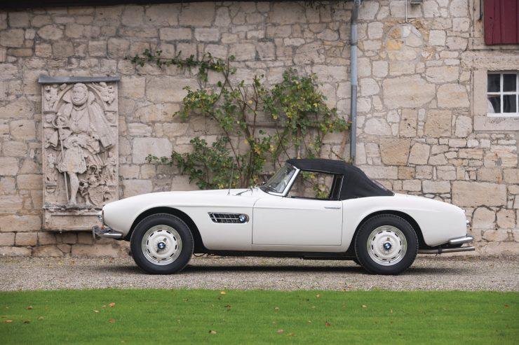 BMW 507 Roadster Side Profile 740x493 - 1958 BMW 507 Roadster Series II