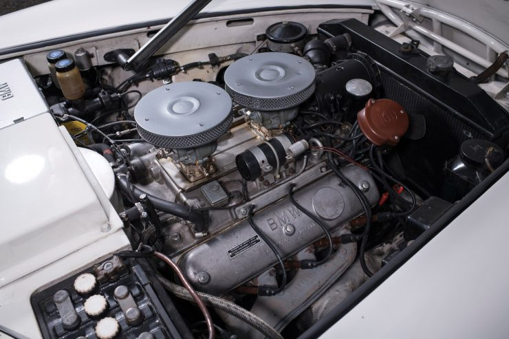 BMW 507 Roadster V8 Engine 740x493 - 1958 BMW 507 Roadster Series II
