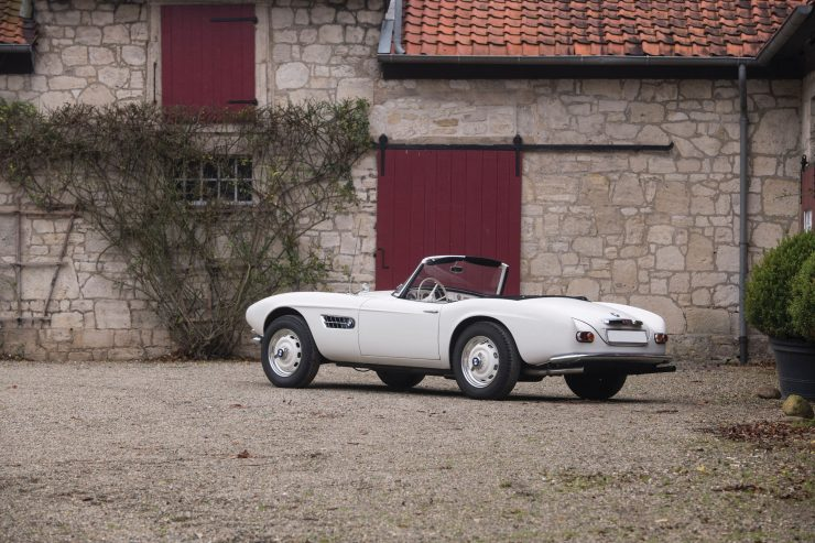 BMW 507 Roadster rear 740x493 - 1958 BMW 507 Roadster Series II