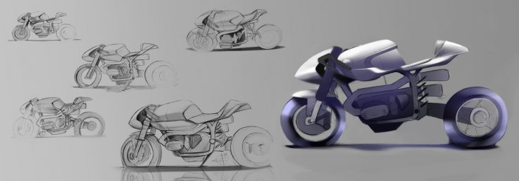 BMW R100 RS Custom Sketch