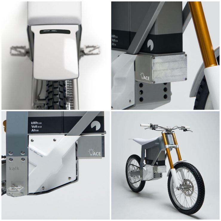 Cake Kalk Electric Bike Motor and Battery 740x740 - Almost A Two-Wheeled Tesla: The CAKE KALK Dual Sport Electric Bike