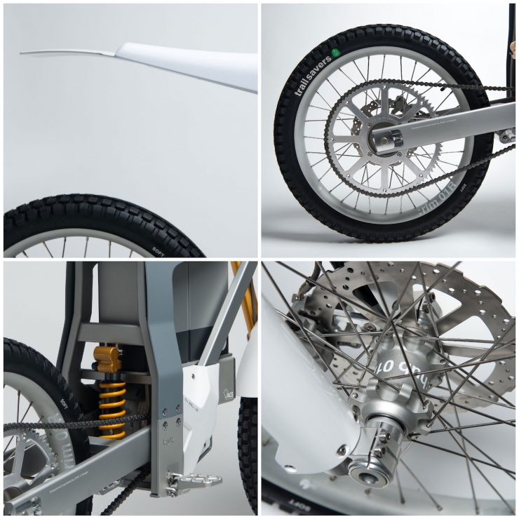 Cake Kalk Electric Bike Wheels and Suspension 740x740 - Almost A Two-Wheeled Tesla: The CAKE KALK Dual Sport Electric Bike