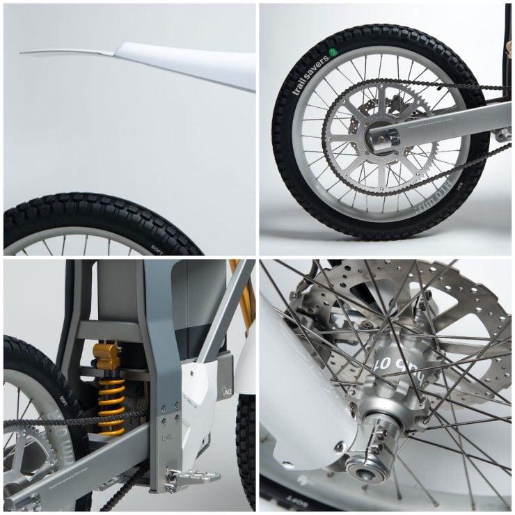 Cake Kalk Electric Bike Wheels and Suspension 740x740 - A Two-Wheeled Tesla: The CAKE KALK Dual Sport Electric Bike