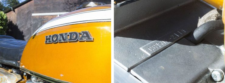 Honda CB750 Sandcast Motorcycle VIN