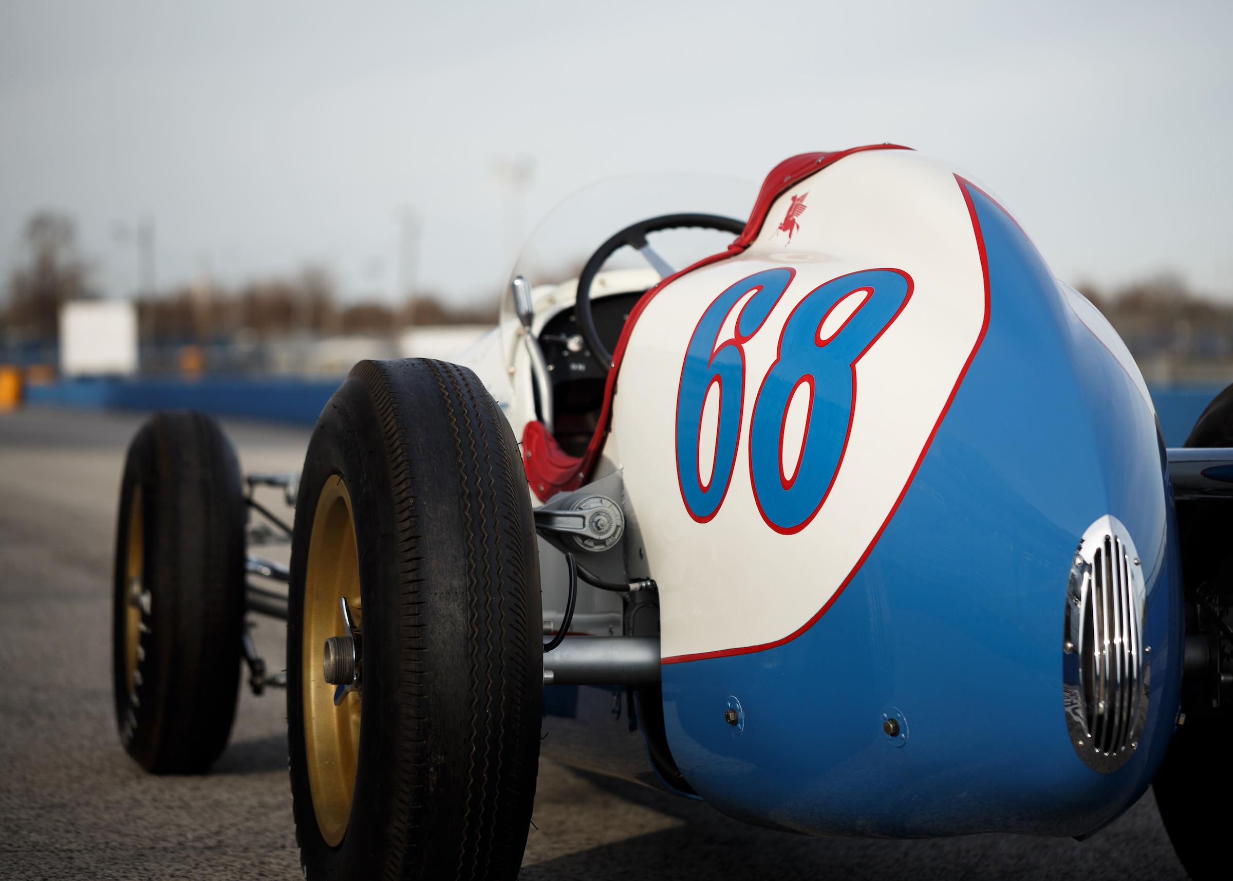 Kurtis KK4000 Offy Indy Race Car Back