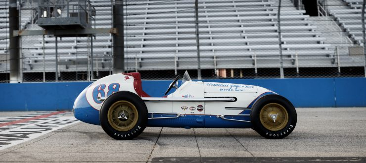 Kurtis KK4000 Offy Indy Race Car Side
