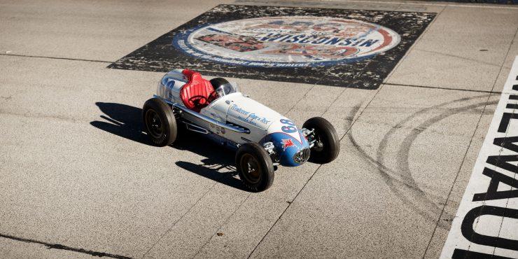 Kurtis KK4000 Offy Indy Race Car Overhead