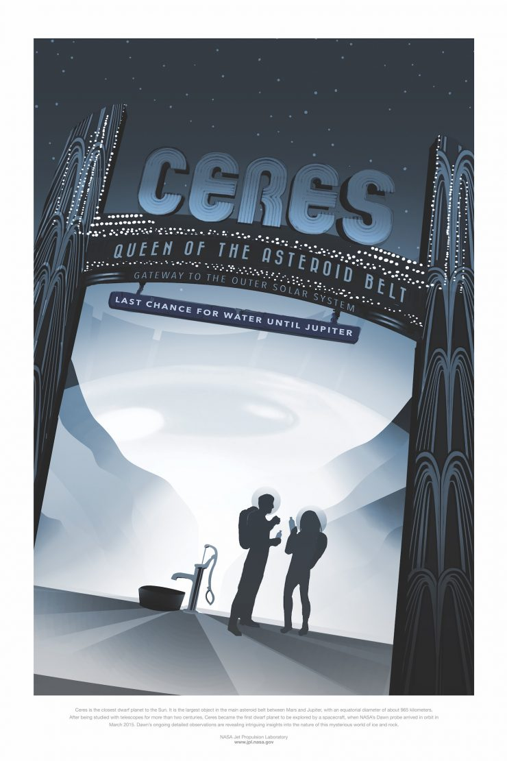 NASA / JPL-Caltech Space Tourism Posters Ceres