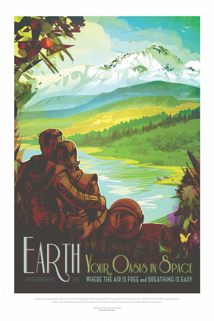 NASA / JPL-Caltech Space Tourism Posters Earth