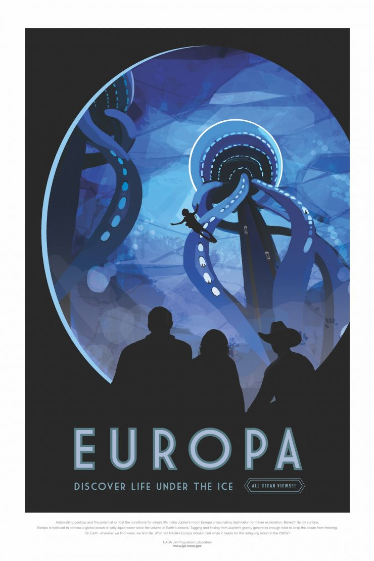 NASA / JPL-Caltech Space Tourism Posters Europa
