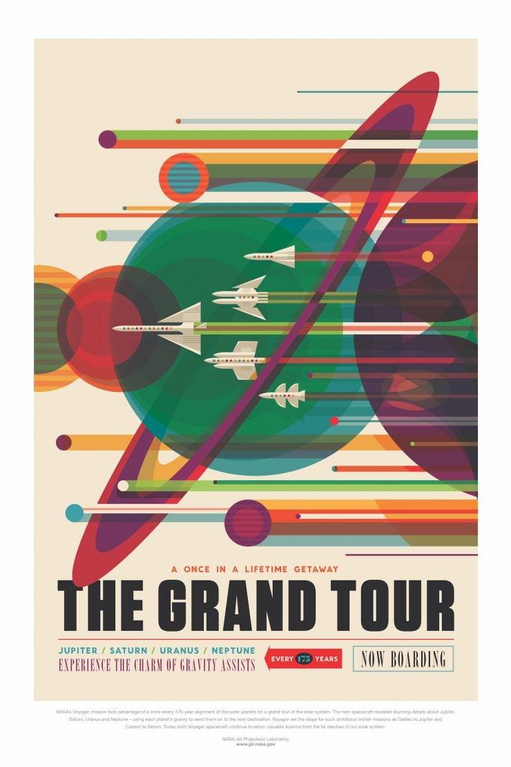 NASA / JPL-Caltech Space Tourism Posters Grand Tour