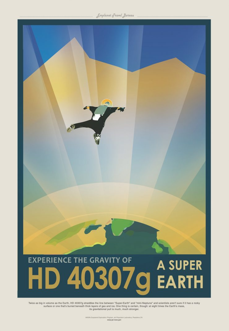 NASA / JPL-Caltech Space Tourism Posters HD40307G