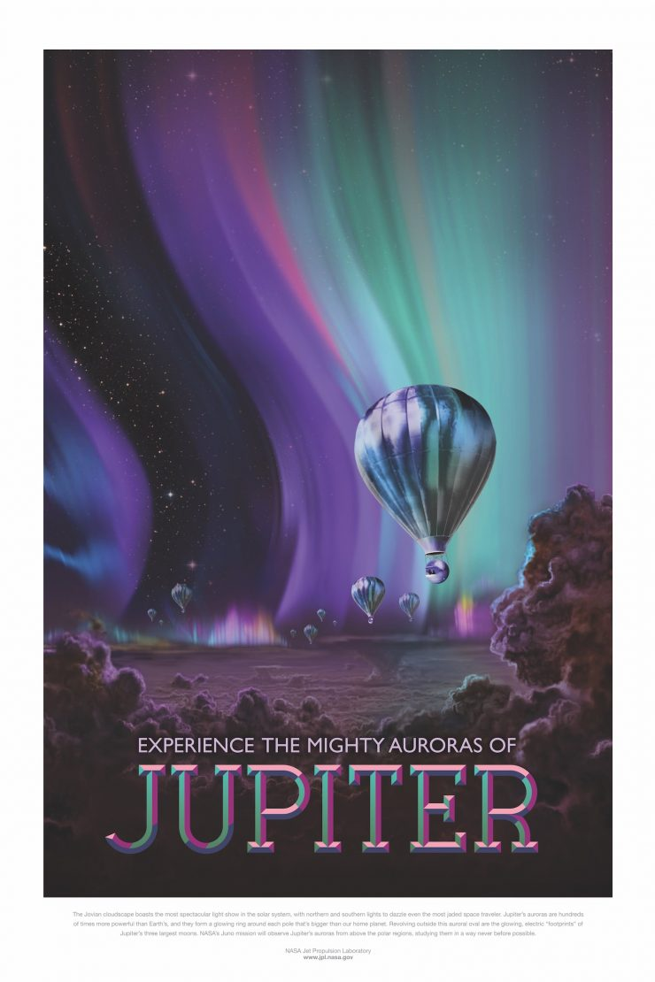 NASA / JPL-Caltech Space Tourism Posters Jupiter