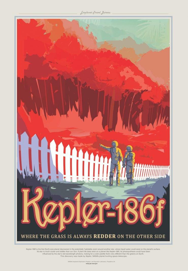 NASA / JPL-Caltech Space Tourism Posters Kepler186F