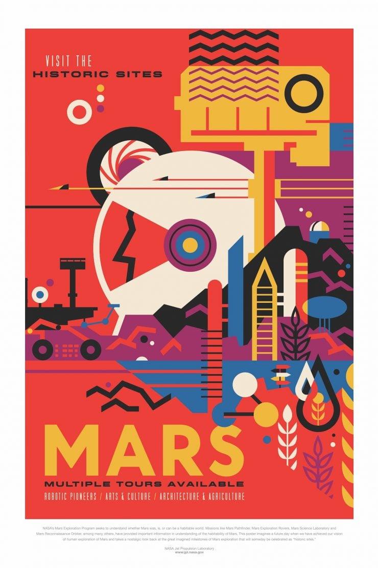 NASA Space Tourism Posters Mars