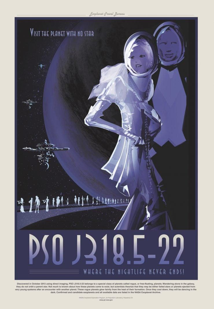 NASA / JPL-Caltech Space Tourism Posters PSOJ318