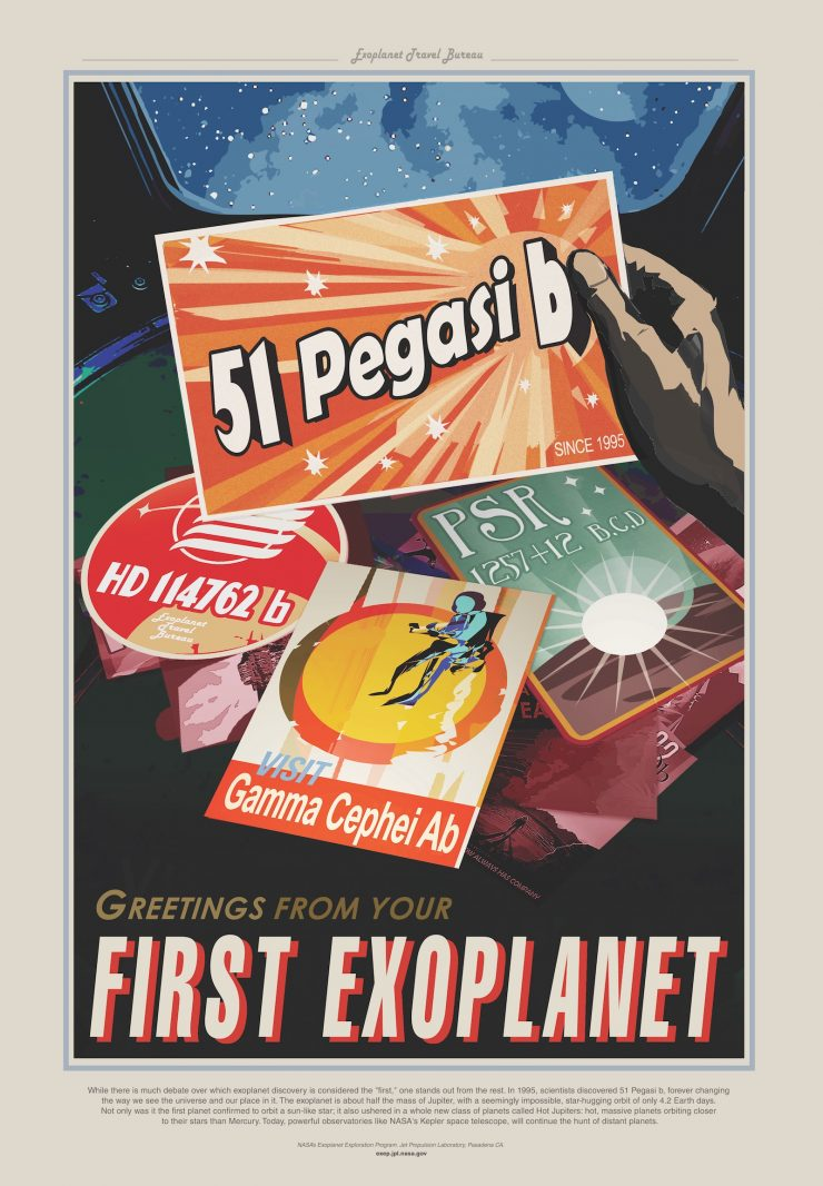 NASA / JPL-Caltech Space Tourism Posters Peg51