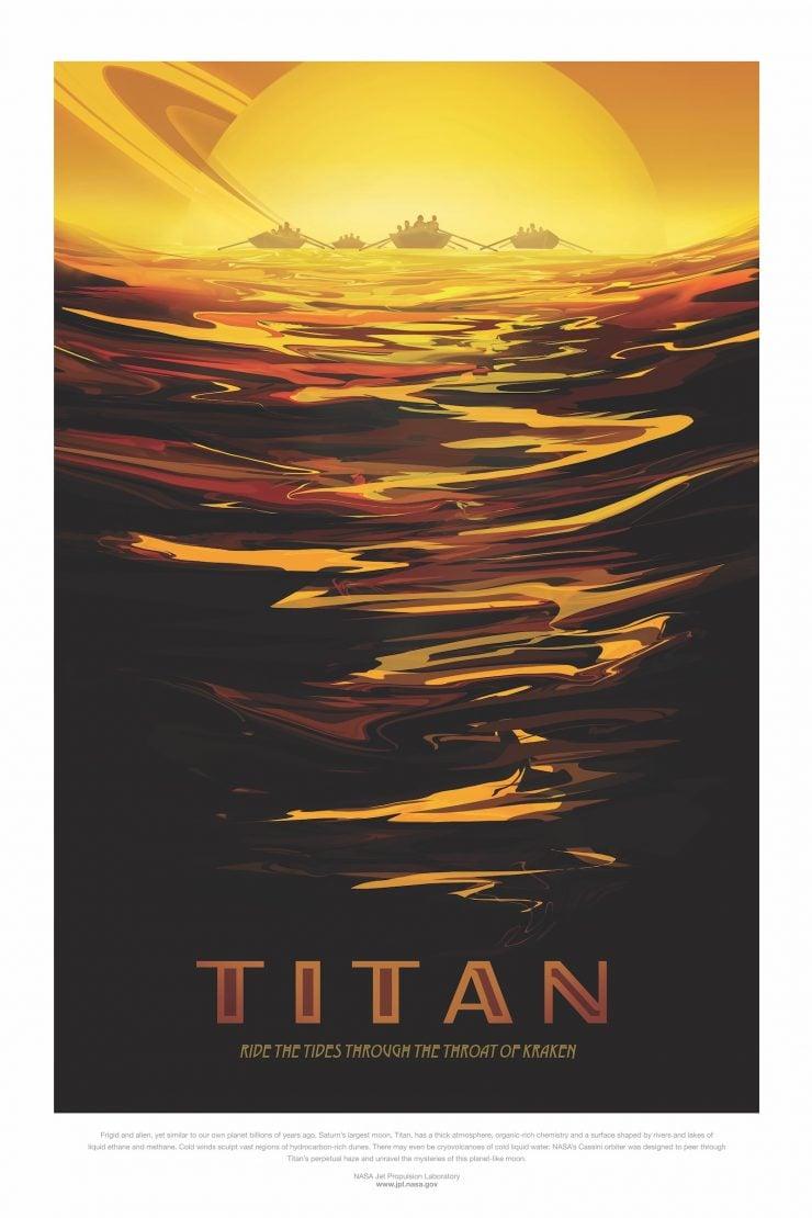 NASA Space Tourism Posters Titan