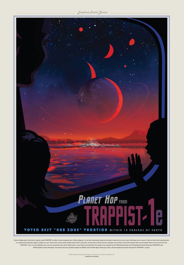 NASA Space Tourism Posters Trappist