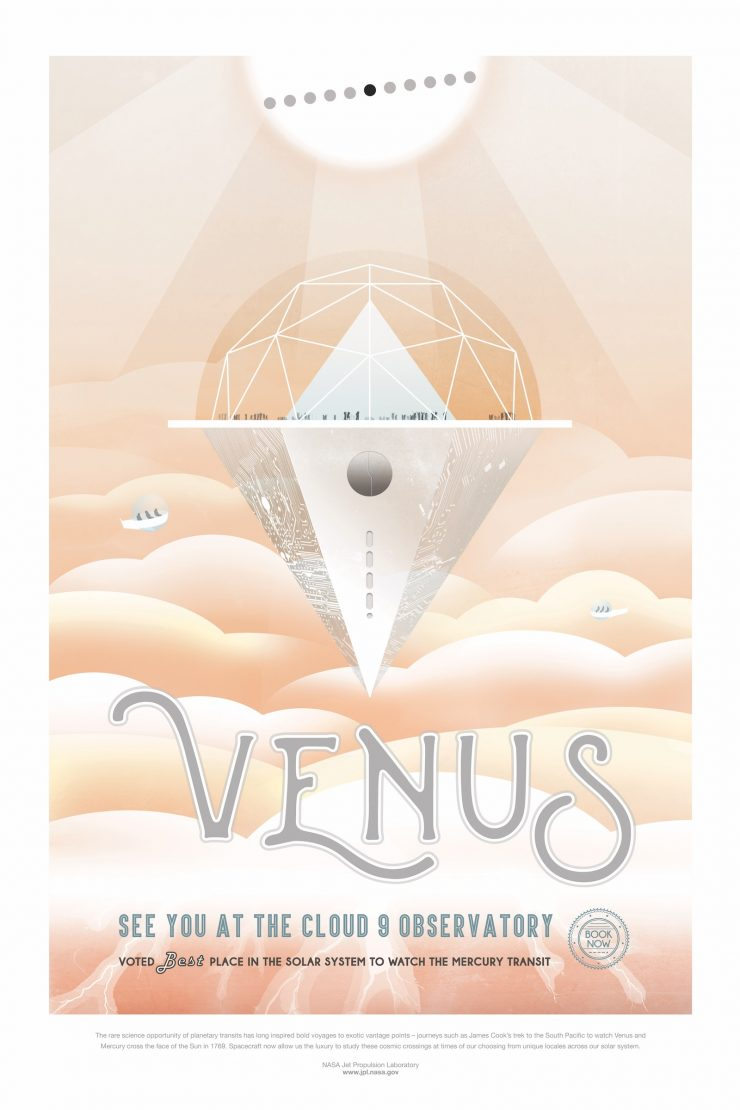 NASA Space Tourism Posters Venus