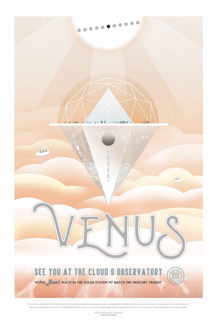 NASA Space Tourism Posters Venus