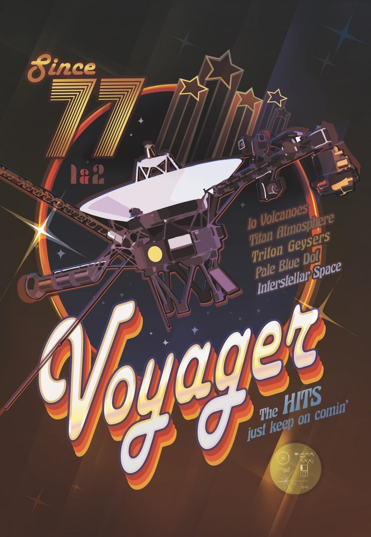 NASA Space Tourism Posters Voyager Disco Poster