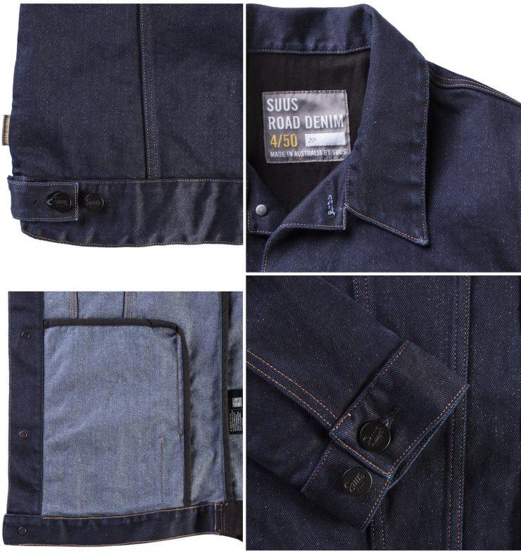 Suus Road Denim 450 Motorcycle Jacket Details