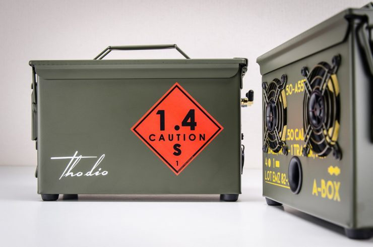 The .50 Cal A-Box - The Original Ammo Can Boombox Rear