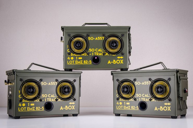 The .50 Cal A-Box - The Original Ammo Can Boombox Three Units