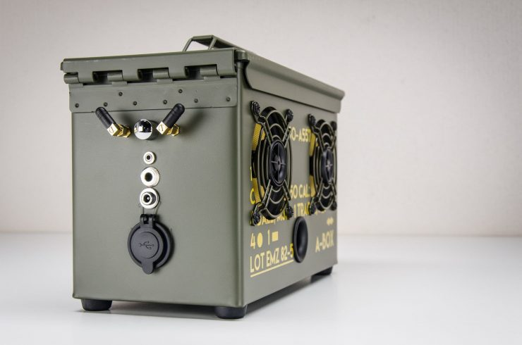 The .50 Cal A-Box - The Original Ammo Can Boombox Right Side