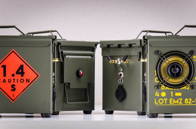 The .50 Cal A-Box - The Original Ammo Can Boombox Sides