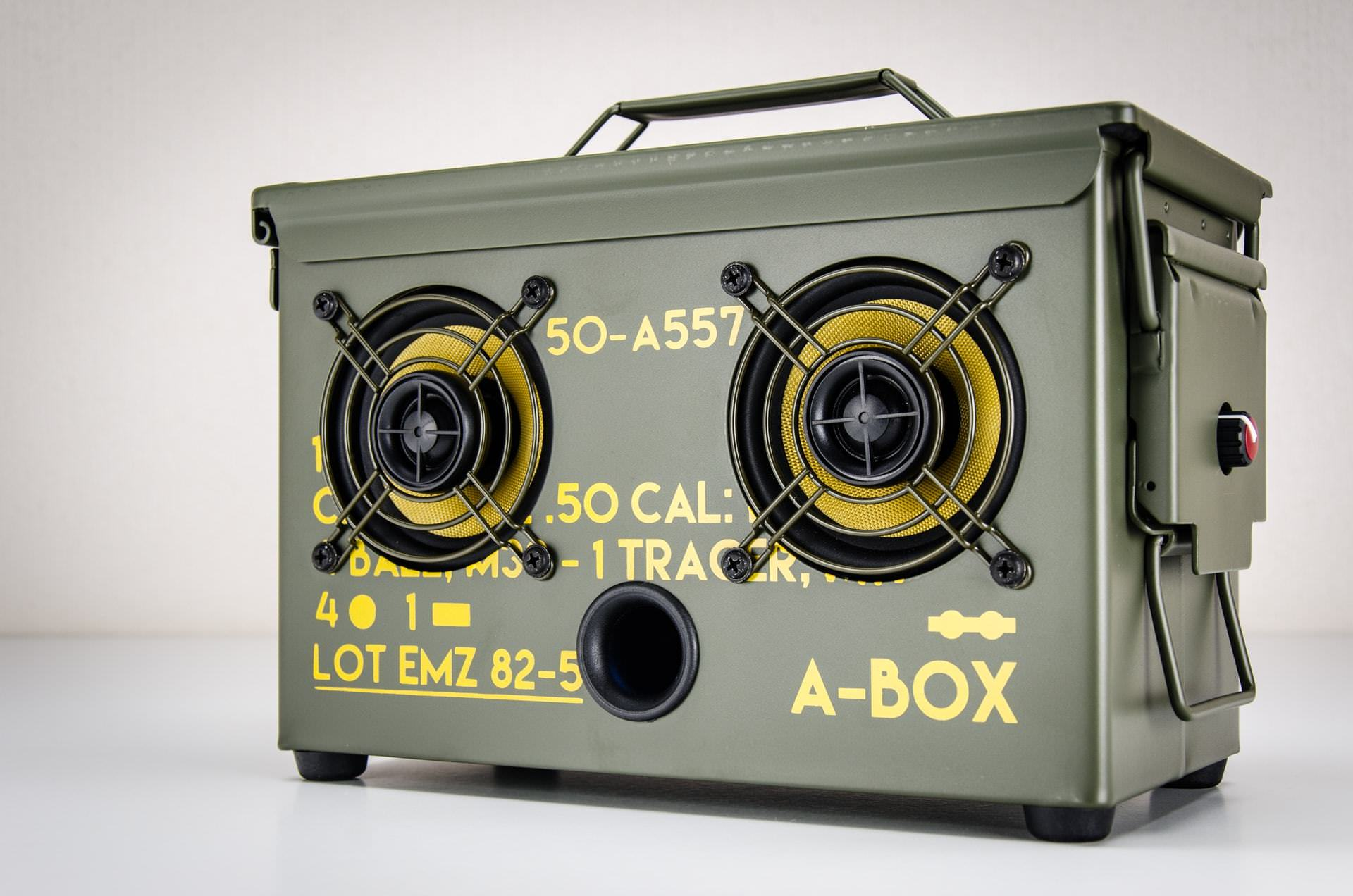 The Thodio 50 Cal A Box The Original Ammo Can Boombox