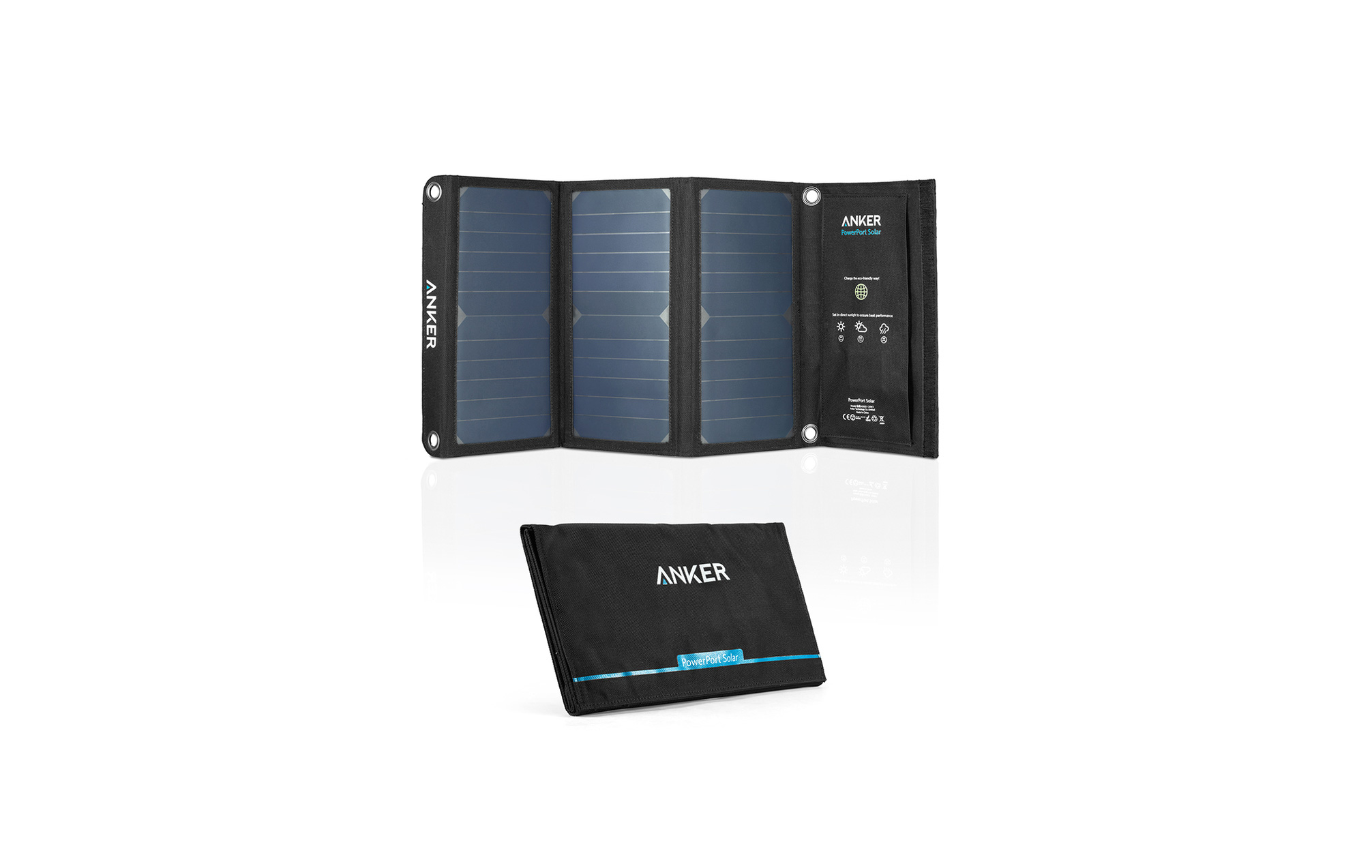 Anker Powerport Solar Charger 3 Panel 21 Watt Dual Usb