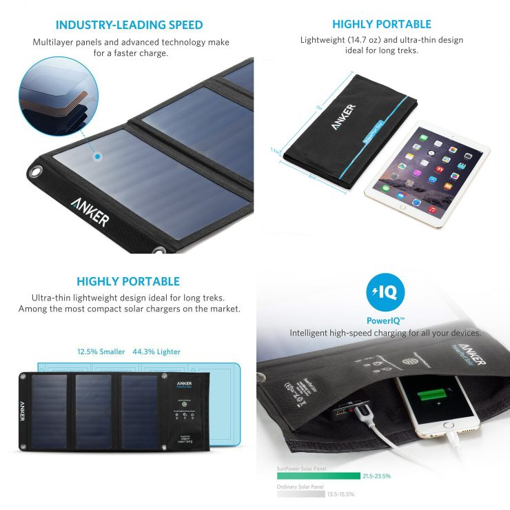 Anker PowerPort Solar Charger Collage