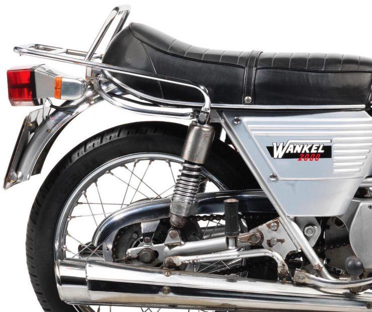 DKW W2000 Hercules W-2000 Rotary - A Wankel Rotary Motorcycle Rear