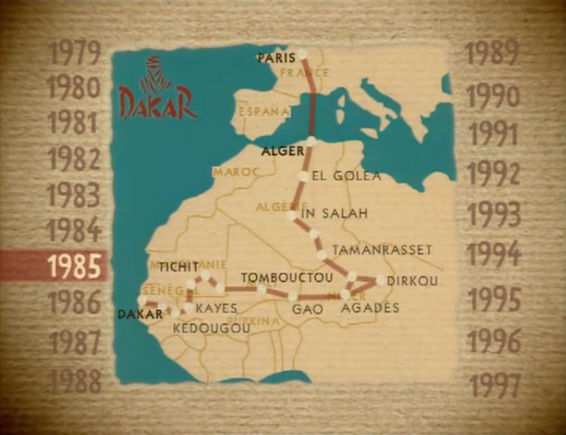 Doentary - The Paris - Dakar Rally: The Beginning - 1979 ... on paris-dakar route map, rally usa map, 2014 dakar rally raid map, rallye de dakar map, dakar world maps, dakar on facebook, dakar africa, dakar map island, songhai tribes map,