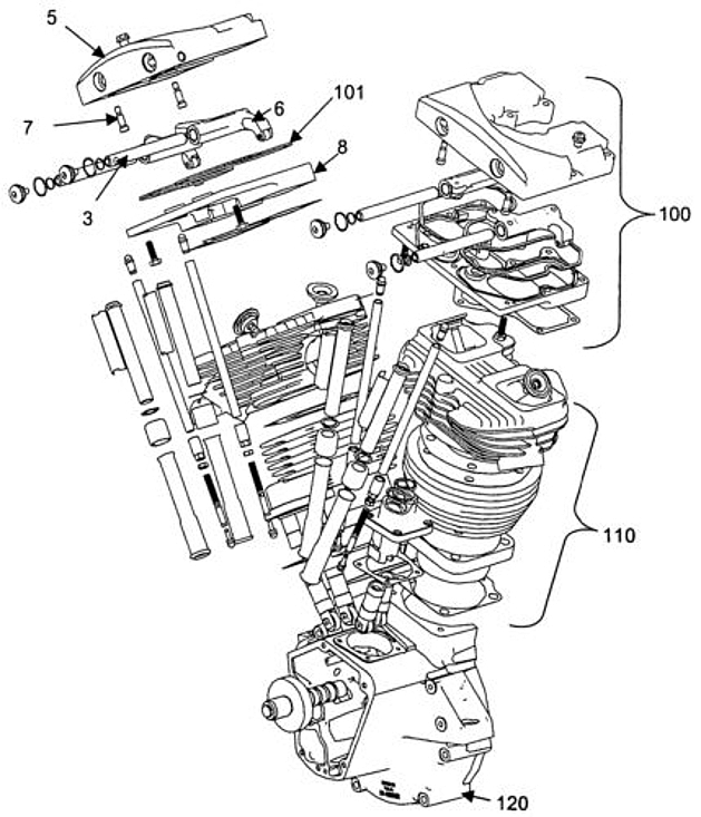 Harley-Davidson Shovelhead engine diagram