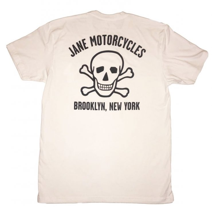 Jane Motorcycles Bowery Skull T-Shirt Back