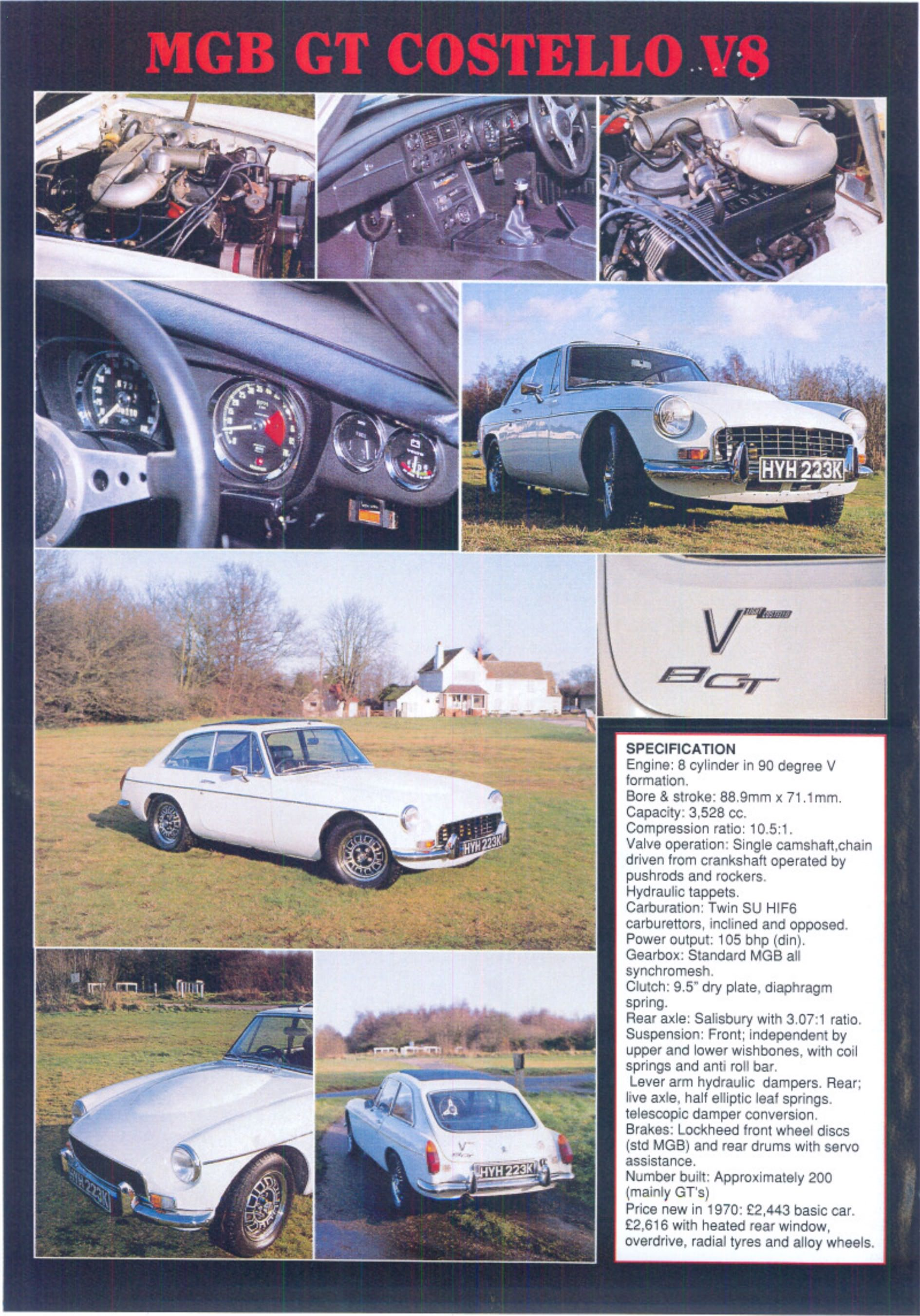 Mgb V8 Gt And Roadster The Essential Buying Guide Business Industrial Electrical Test Equipment Motors He Sourced Original American Engines From Overseas For His Conversions So Costello Cars Will Often Be Fitted With Those Lighter More Powerful