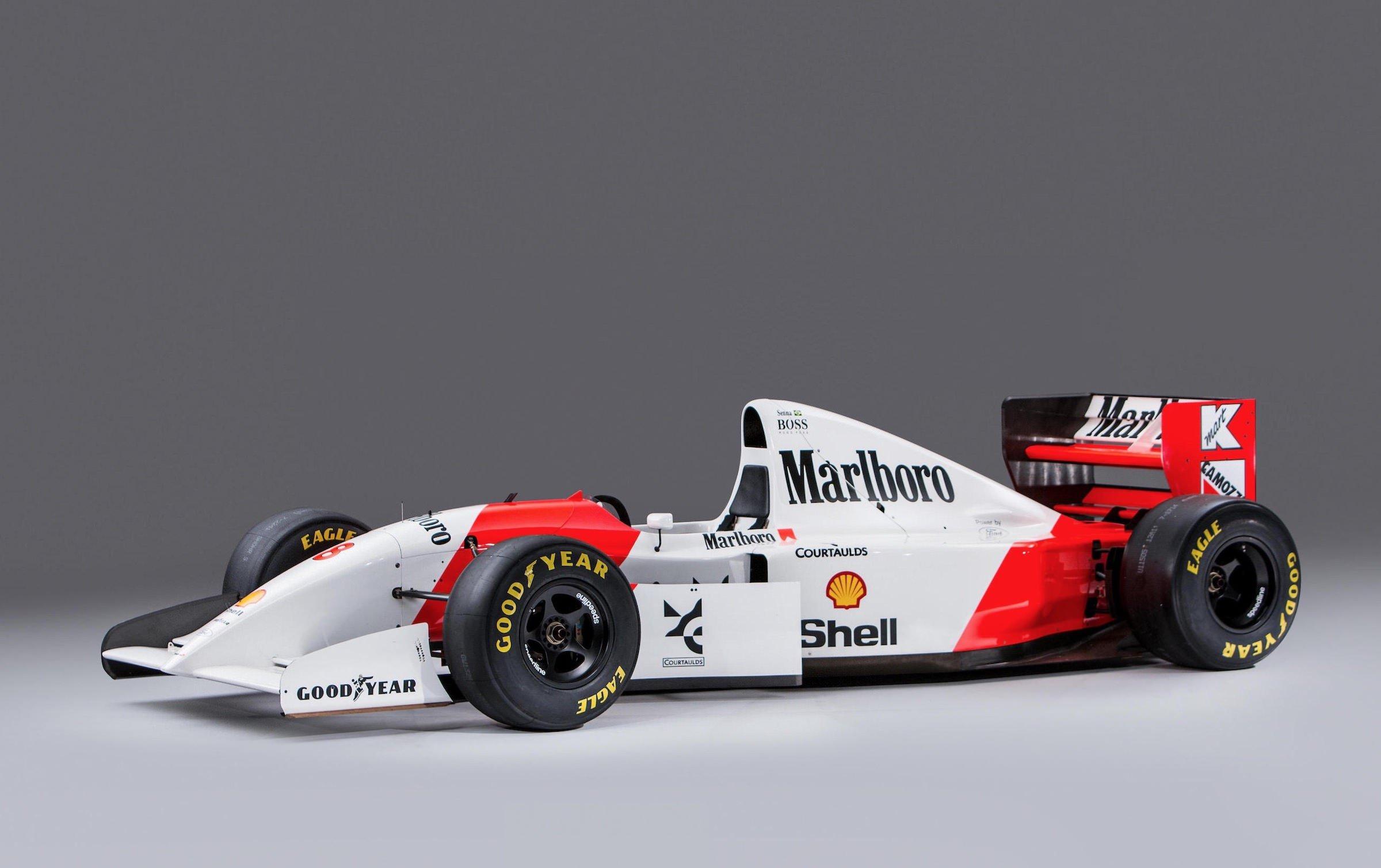 Ayrton Senna S Original 1993 Mclaren Mp4 8 Formula 1 Car