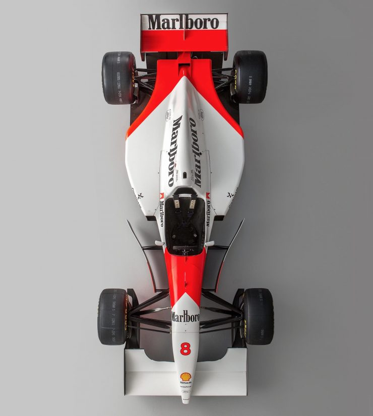 McLaren MP4/8 Formula 1 Car Overhead