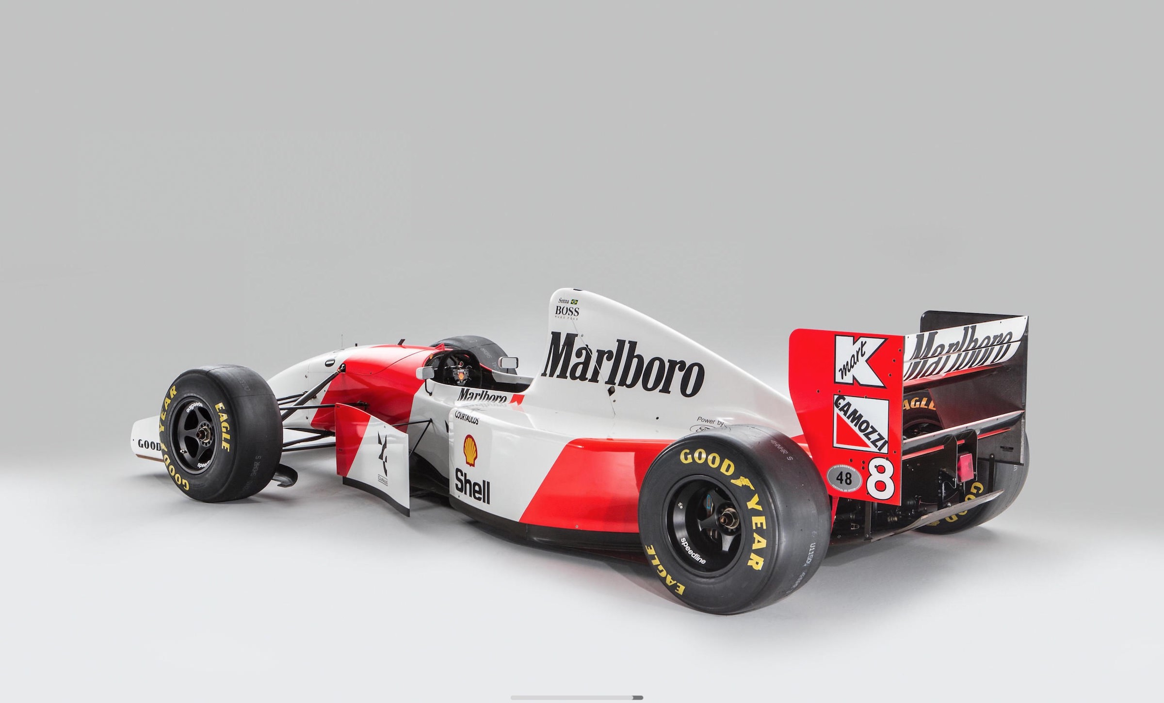 Ayrton Senna\'s Original 1993 McLaren MP4/8 Formula 1 Car