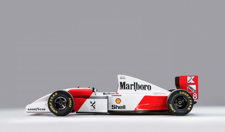 McLaren MP4/8 Formula 1 Car Side