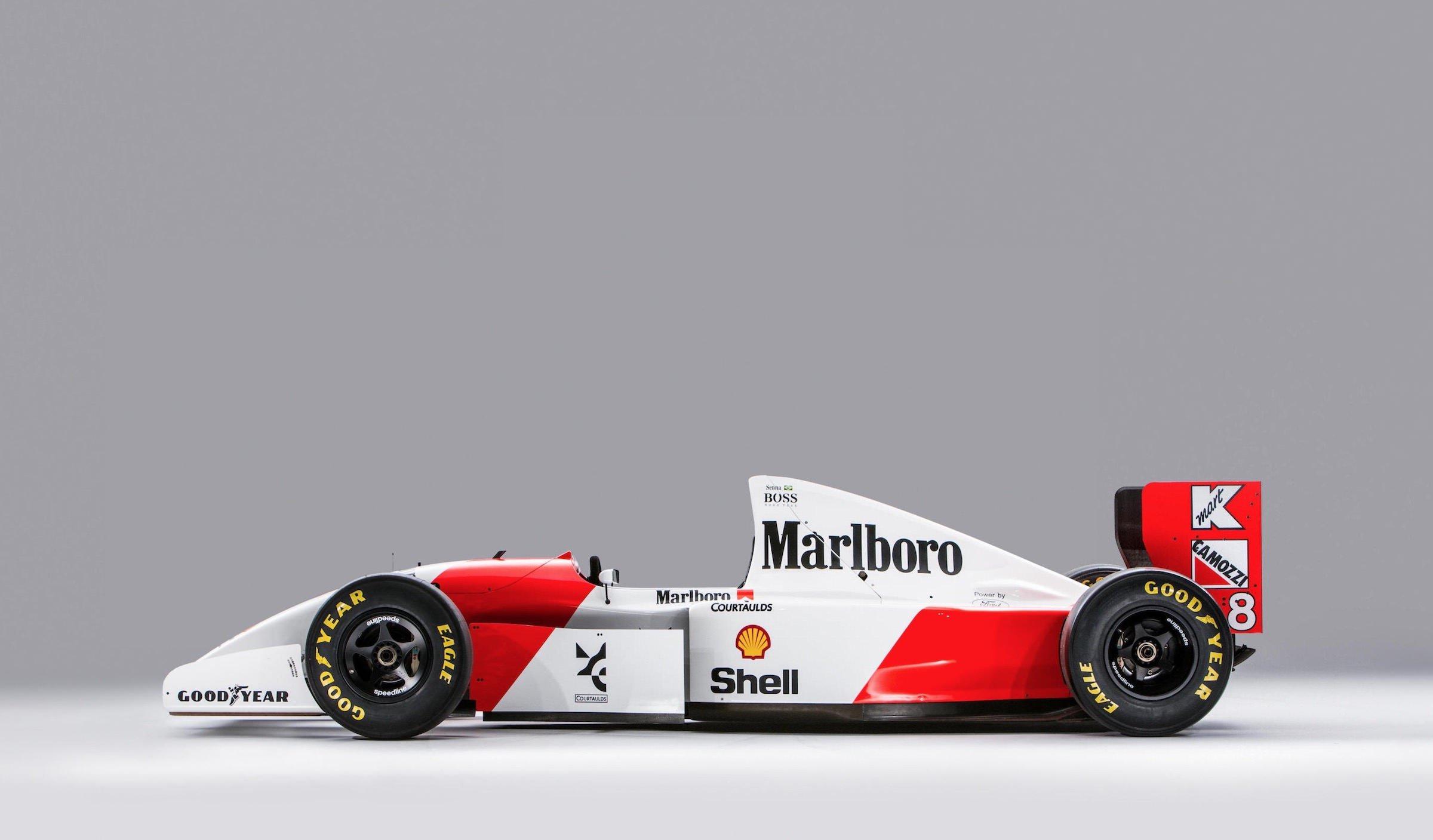 ayrton sennas original 1993 mclaren mp48 formula 1 car