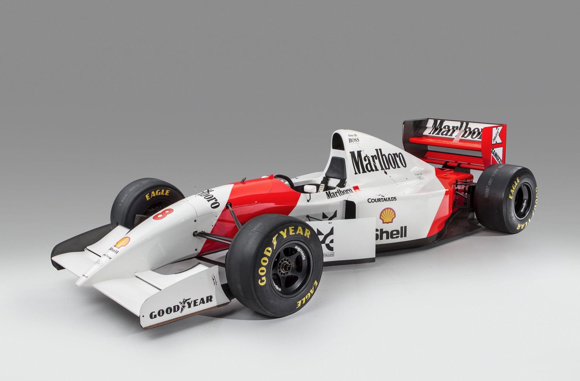 ayrton sennas original 1993 mclaren mp48 formula 1 car