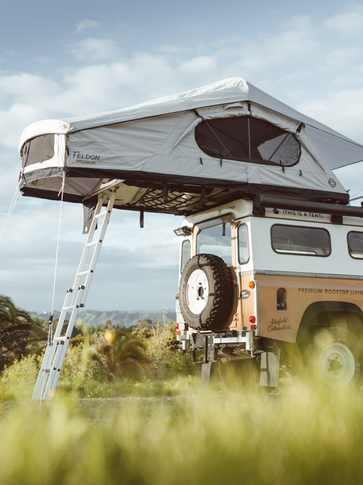 Crow's Nest Extended Rooftop Tent Feldon Shelter