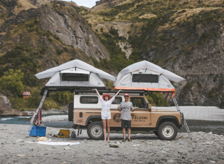 The Crows Nest Extended Rooftop Tent by Feldon Shelter