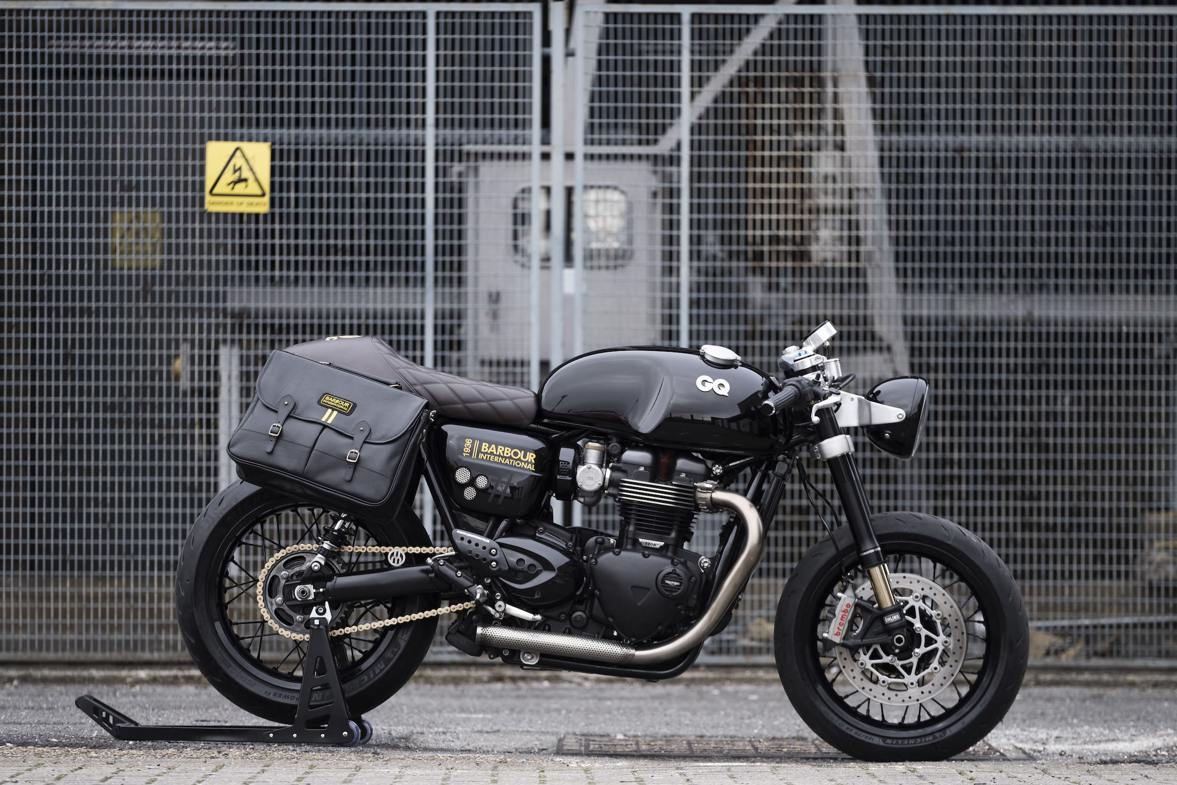 The Gq X Barbour X Untitled Motorcycles Triumph Thruxton