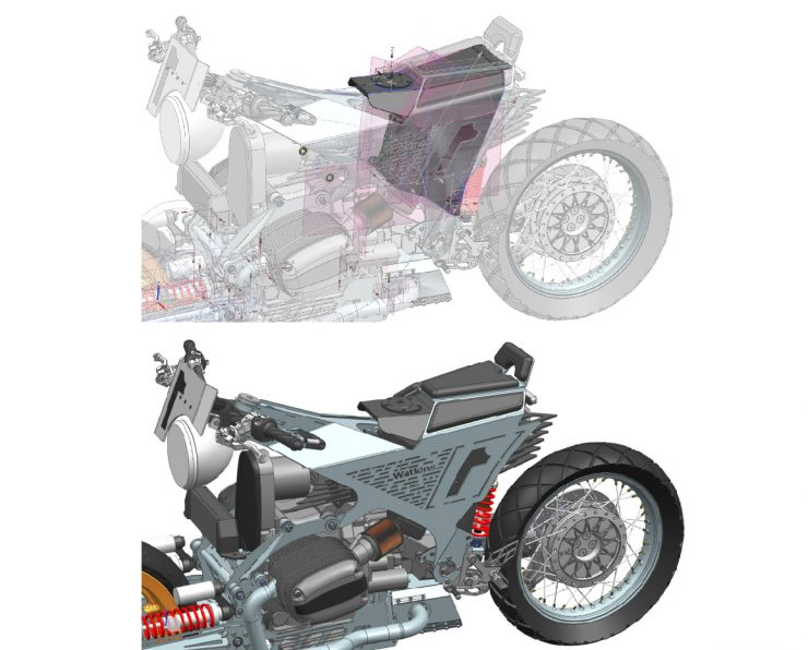3D CAD Motorcycle