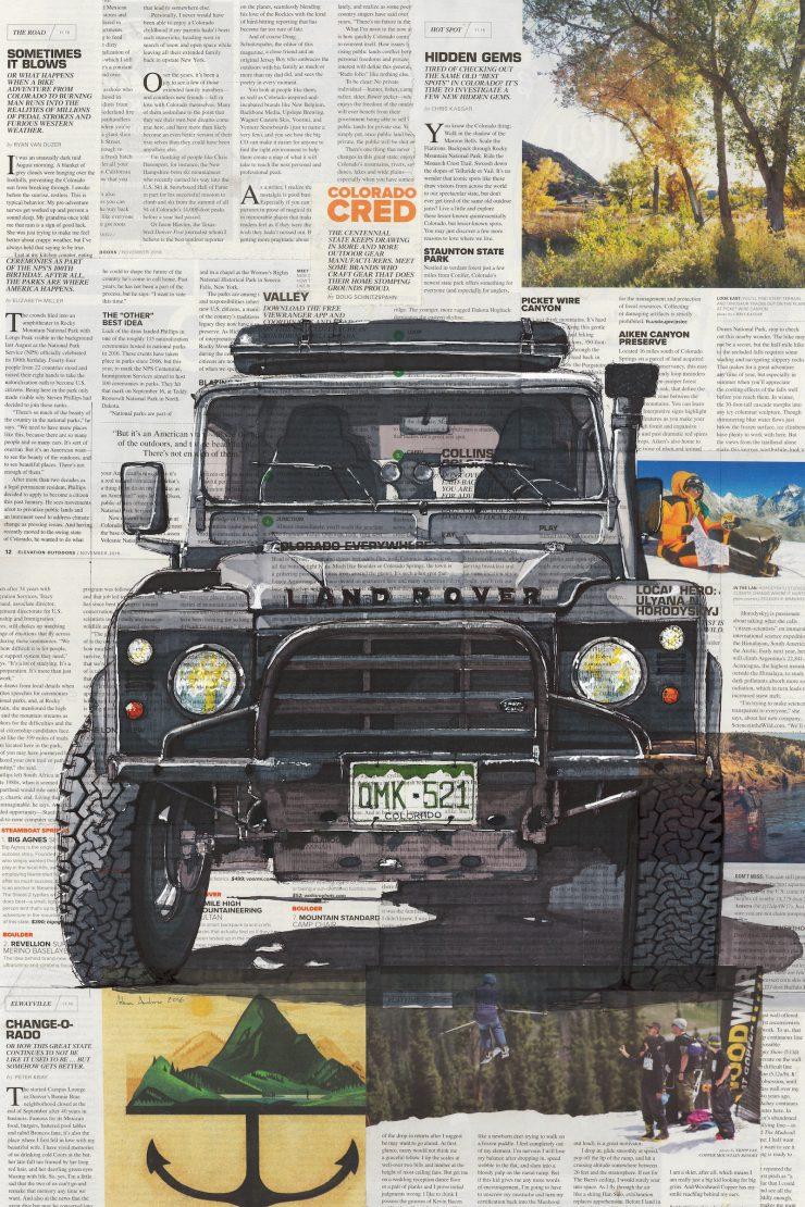 Art of Adam Ambro Land Rover Defender 740x1110 - The Art of Adam Ambro